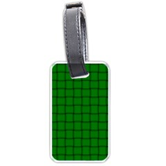 Green Weave Luggage Tag (two Sides) by BestCustomGiftsForYou
