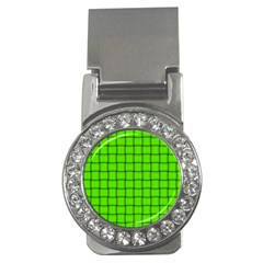 Bright Green Weave Money Clip (cz) by BestCustomGiftsForYou