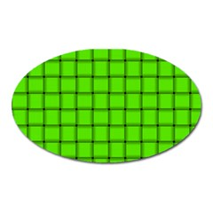 Bright Green Weave Magnet (oval) by BestCustomGiftsForYou