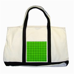 Bright Green Weave Two Toned Tote Bag by BestCustomGiftsForYou