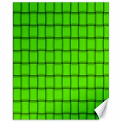 Bright Green Weave Canvas 16  X 20  (unframed)