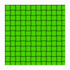 Bright Green Weave Glasses Cloth (medium, Two Sided) by BestCustomGiftsForYou