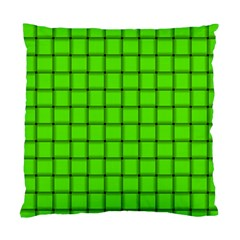 Bright Green Weave Cushion Case (two Sides) by BestCustomGiftsForYou
