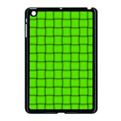 Bright Green Weave Apple Ipad Mini Case (black) by BestCustomGiftsForYou
