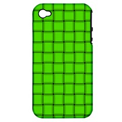 Bright Green Weave Apple Iphone 4/4s Hardshell Case (pc+silicone) by BestCustomGiftsForYou