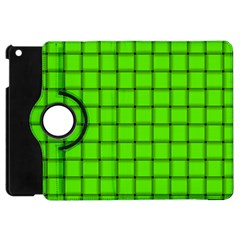Bright Green Weave Apple Ipad Mini Flip 360 Case by BestCustomGiftsForYou