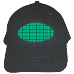 Caribbean Green Weave Black Baseball Cap by BestCustomGiftsForYou