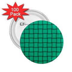 Caribbean Green Weave 2 25  Button (100 Pack) by BestCustomGiftsForYou
