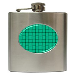 Caribbean Green Weave Hip Flask