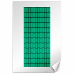 Caribbean Green Weave Canvas 24  X 36  (unframed) by BestCustomGiftsForYou
