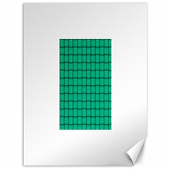 Caribbean Green Weave Canvas 36  X 48  (unframed) by BestCustomGiftsForYou