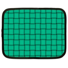 Caribbean Green Weave Netbook Case (xxl) by BestCustomGiftsForYou
