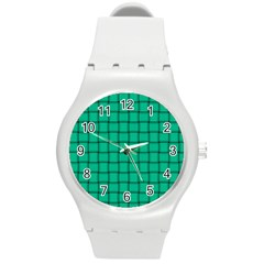 Caribbean Green Weave Plastic Sport Watch (medium) by BestCustomGiftsForYou