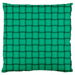 Caribbean Green Weave Large Cushion Case (one Side) by BestCustomGiftsForYou