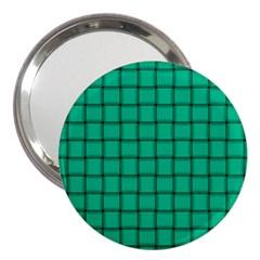 Caribbean Green Weave 3  Handbag Mirror