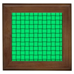 Spring Green Weave Framed Ceramic Tile by BestCustomGiftsForYou