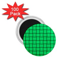 Spring Green Weave 1 75  Button Magnet (100 Pack) by BestCustomGiftsForYou