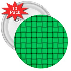 Spring Green Weave 3  Button (10 Pack)