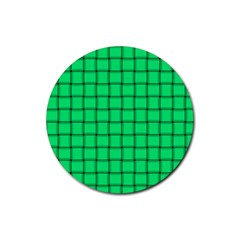 Spring Green Weave Drink Coaster (round) by BestCustomGiftsForYou