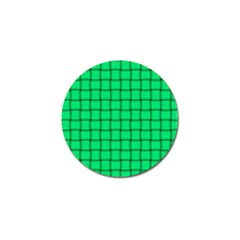Spring Green Weave Golf Ball Marker by BestCustomGiftsForYou