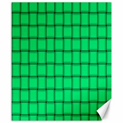 Spring Green Weave Canvas 8  X 10  (unframed) by BestCustomGiftsForYou
