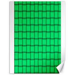 Spring Green Weave Canvas 18  X 24  (unframed)