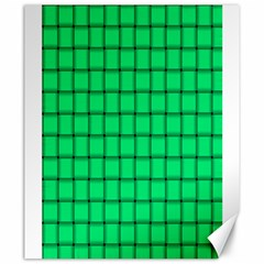 Spring Green Weave Canvas 20  X 24  (unframed)