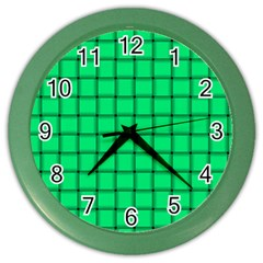 Spring Green Weave Wall Clock (color) by BestCustomGiftsForYou