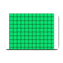 Spring Green Weave Small Door Mat by BestCustomGiftsForYou