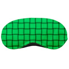 Spring Green Weave Sleeping Mask by BestCustomGiftsForYou