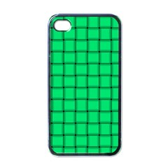 Spring Green Weave Apple Iphone 4 Case (black) by BestCustomGiftsForYou