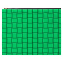 Spring Green Weave Cosmetic Bag (xxxl)