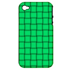 Spring Green Weave Apple Iphone 4/4s Hardshell Case (pc+silicone) by BestCustomGiftsForYou