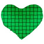 Spring Green Weave 19  Premium Heart Shape Cushion Back