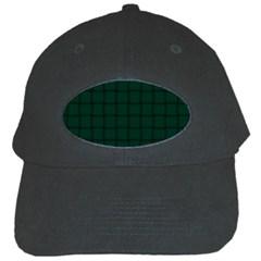 Dark Green Weave Black Baseball Cap by BestCustomGiftsForYou