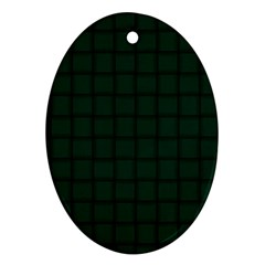 Dark Green Weave Oval Ornament