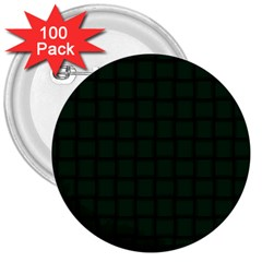 Dark Green Weave 3  Button (100 Pack) by BestCustomGiftsForYou