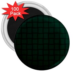 Dark Green Weave 3  Button Magnet (100 Pack) by BestCustomGiftsForYou