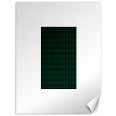 Dark Green Weave Canvas 36  X 48  (unframed) by BestCustomGiftsForYou
