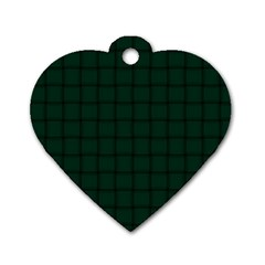 Dark Green Weave Dog Tag Heart (one Sided)  by BestCustomGiftsForYou