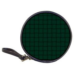 Dark Green Weave Cd Wallet by BestCustomGiftsForYou