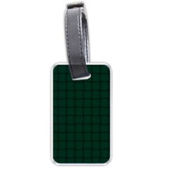 Dark Green Weave Luggage Tag (two Sides) by BestCustomGiftsForYou