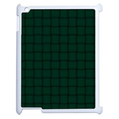 Dark Green Weave Apple Ipad 2 Case (white) by BestCustomGiftsForYou