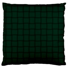 Dark Green Weave Large Cushion Case (two Sides) by BestCustomGiftsForYou