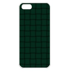Dark Green Weave Apple Iphone 5 Seamless Case (white) by BestCustomGiftsForYou