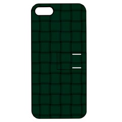 Dark Green Weave Apple Iphone 5 Hardshell Case With Stand by BestCustomGiftsForYou
