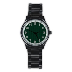 Dark Green Weave Sport Metal Watch (black) by BestCustomGiftsForYou