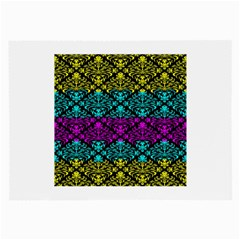 Cmyk Damask Flourish Pattern Glasses Cloth (large, Two Sided) by DDesigns