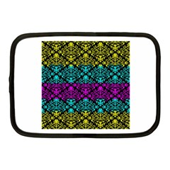 Cmyk Damask Flourish Pattern Netbook Case (medium) by DDesigns