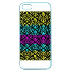 Cmyk Damask Flourish Pattern Apple Seamless Iphone 5 Case (color) by DDesigns